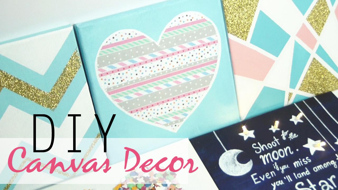 DIY 5 Canvas Decor Gift Ideas
