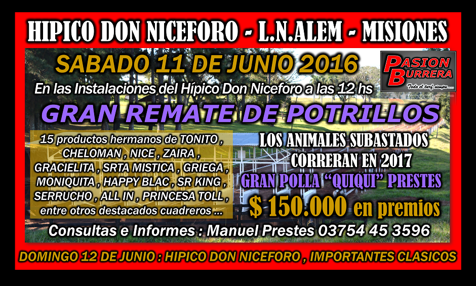 ALEM - DON NICEFORO - 11 JUNIO