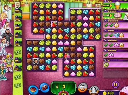 Gameplay Sweet Shop Rush