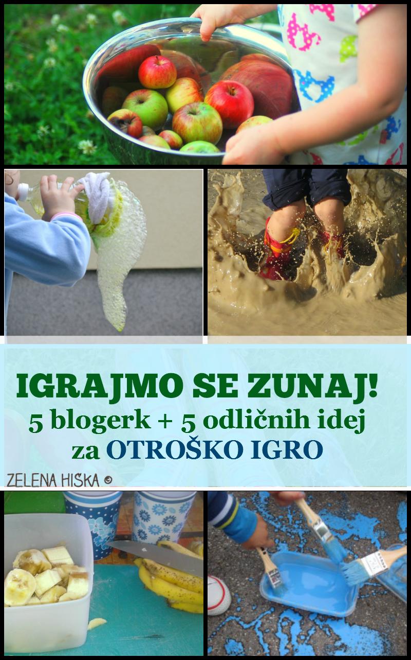 5 slovenskih mamic blogerk in otroška igra zunaj