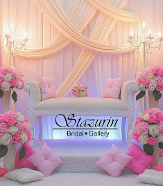 Pelamin Nikah Tirai Draping Eksklusif Warna Cream+Pink Seremban
