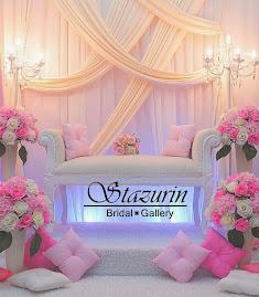 Pelamin Nikah Tirai Draping Eksklusif Warna Cream+Pink Seremban