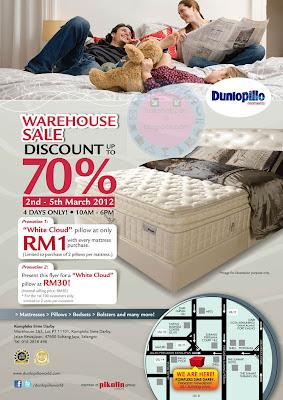 Dunlopillo Mattress Warehouse SALE till 5 MAR 2012