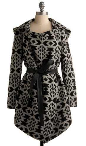 South Western Print Coat