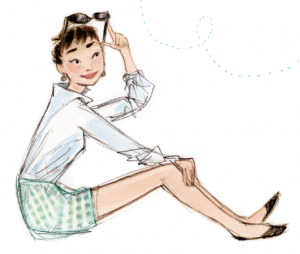 Audrey Hepburn Just-being-audrey-illustration