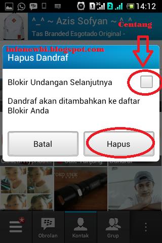 Cara Menghapus dan Blokir Kontak BBM HP Android