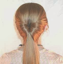 Coiffure facile pour les cheveux long