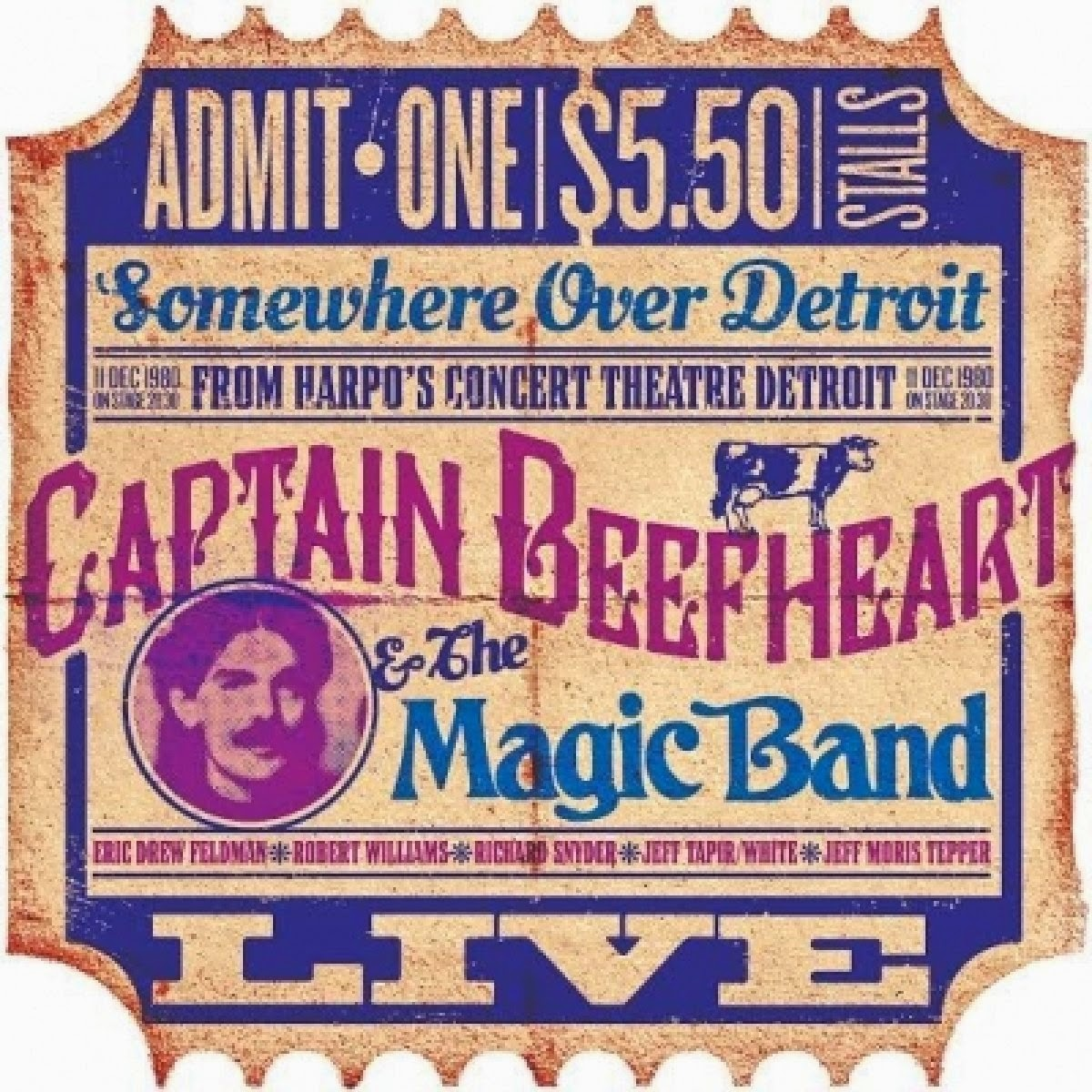 Captain Beefheart & the Magic Band's Live from Harpos 1980