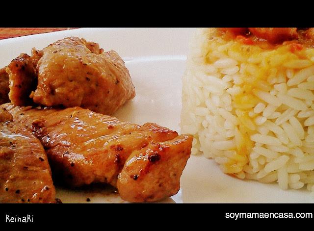receta fácil de carne de cerdo con salsa teriyaki