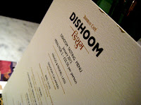 Dishoom tasting menu