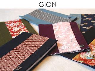 Buchhülle Gion aus japanischen Stoffen von Noriko handmade, handgemacht, Einzelstück, Unikat, Design, Hülle, Kalenderhülle, Notizbuchhülle