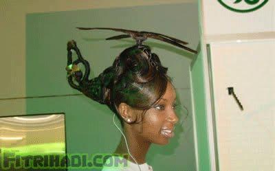 gaya rambut helikopter lady gaga