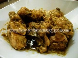 Cara Membuat Opor Ayam Masak Kering