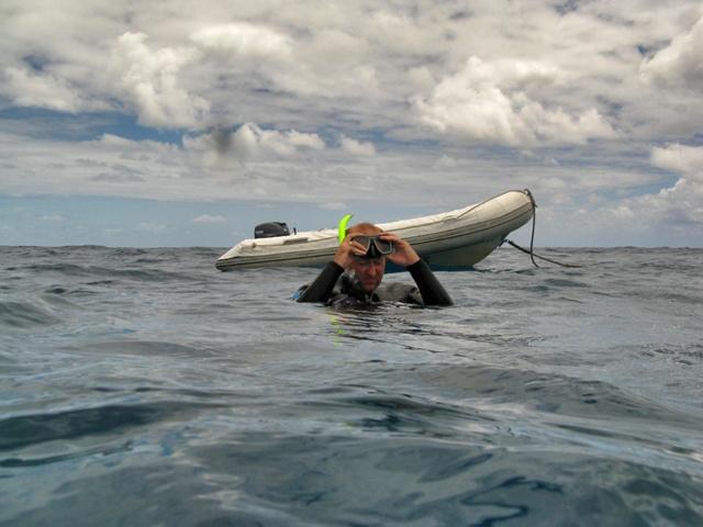 Paco agobiado durante la excursión a la Gran Barrera de Coral australiana