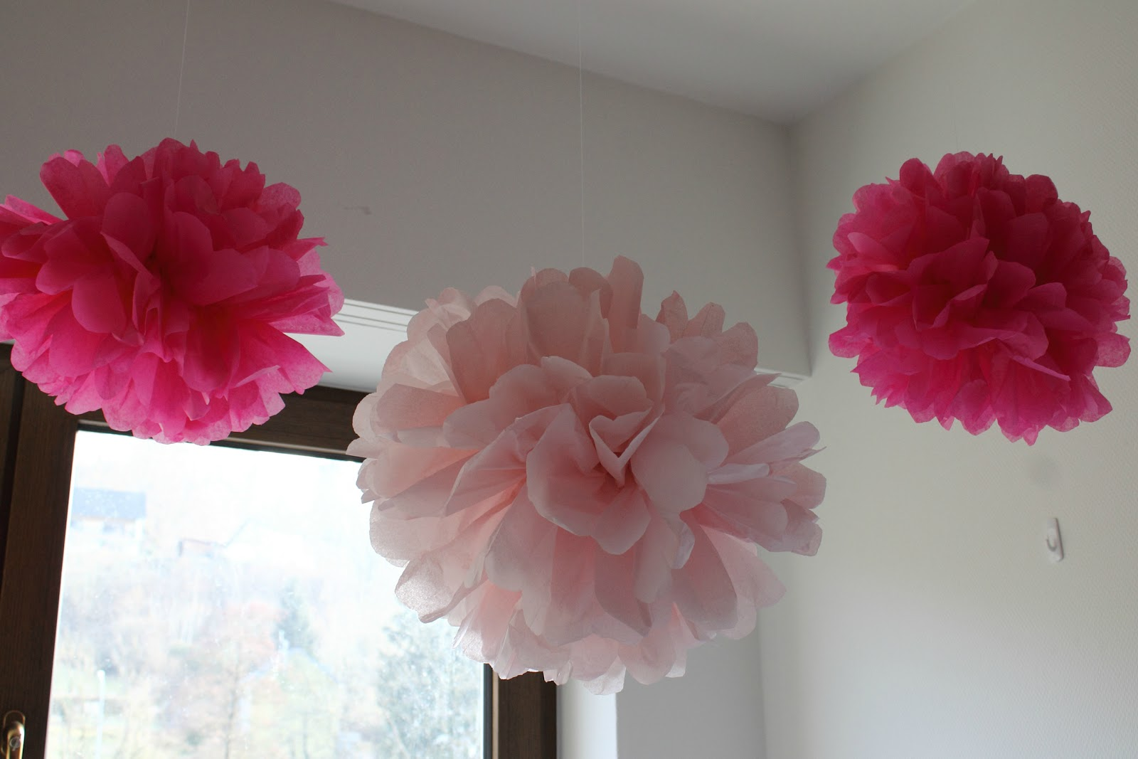 tissue paper balls how to make