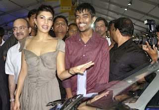 Jacqueline Fernandez Pictures in Short Dress at Autocar Performance Show 2013    ~ Bollywood and South Indian Cinema Actress Exclusive Picture Galleries
