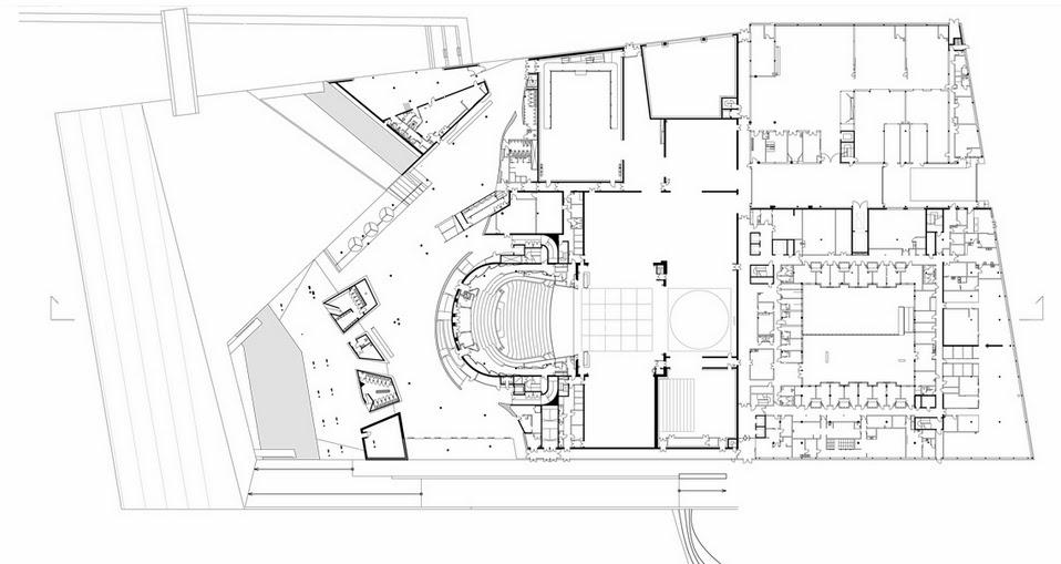 مخططات مشروع دار أوبرا أوسلو بالنرويج  Ground