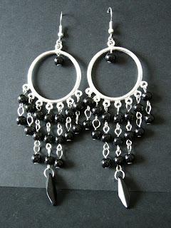 biżuteria z półfabrykatów - kolczyki