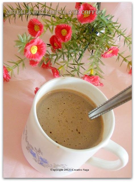 nutella hot chocolate coffee
