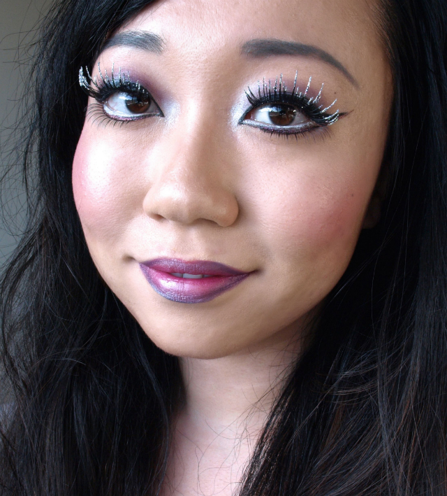 Purple Fairy Halloween Makeup Featuring Ardell Bat Your Lashes False Lashes