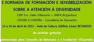 I Xornada de formación e sensibilización sobre atención á diversidade