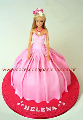 Bolo decorado Barbie Princesa Helena
