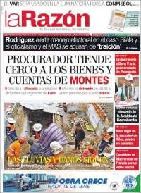 15/02/2020  PRIMERA PÁGINA LA RAZÓN DE BOLIVIA