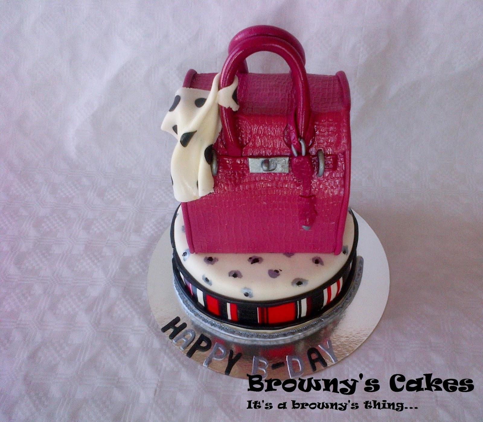 My Mini Birkin Bag Birthday Cake Brownys Cakes