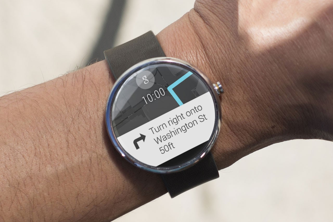 Moto 360 Watch with Android Wear