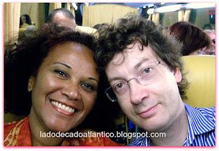 Luciene e Rui viajando para Lagos