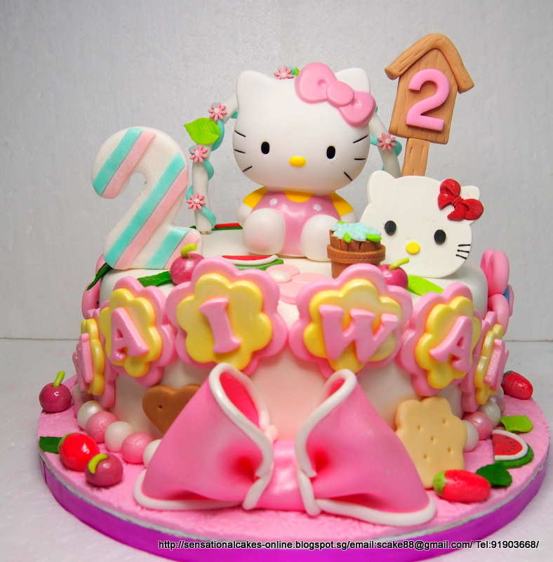 The Sensational Cakes Hello Kitty Cake Singapore Sweet Pastel With