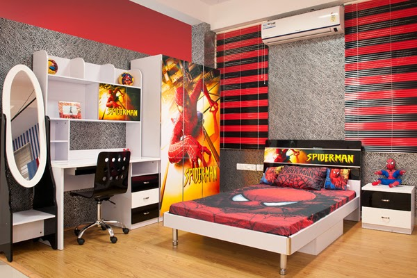 Decorar un dormitorio tem tico del hombre ara a spiderman infantil decora - Dormitorios infantiles tematicos ...
