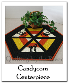 CandyCorn Centerpiece tutorial at Freemotion by the River