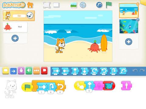 Scratch Jr, aplicación para iPad.