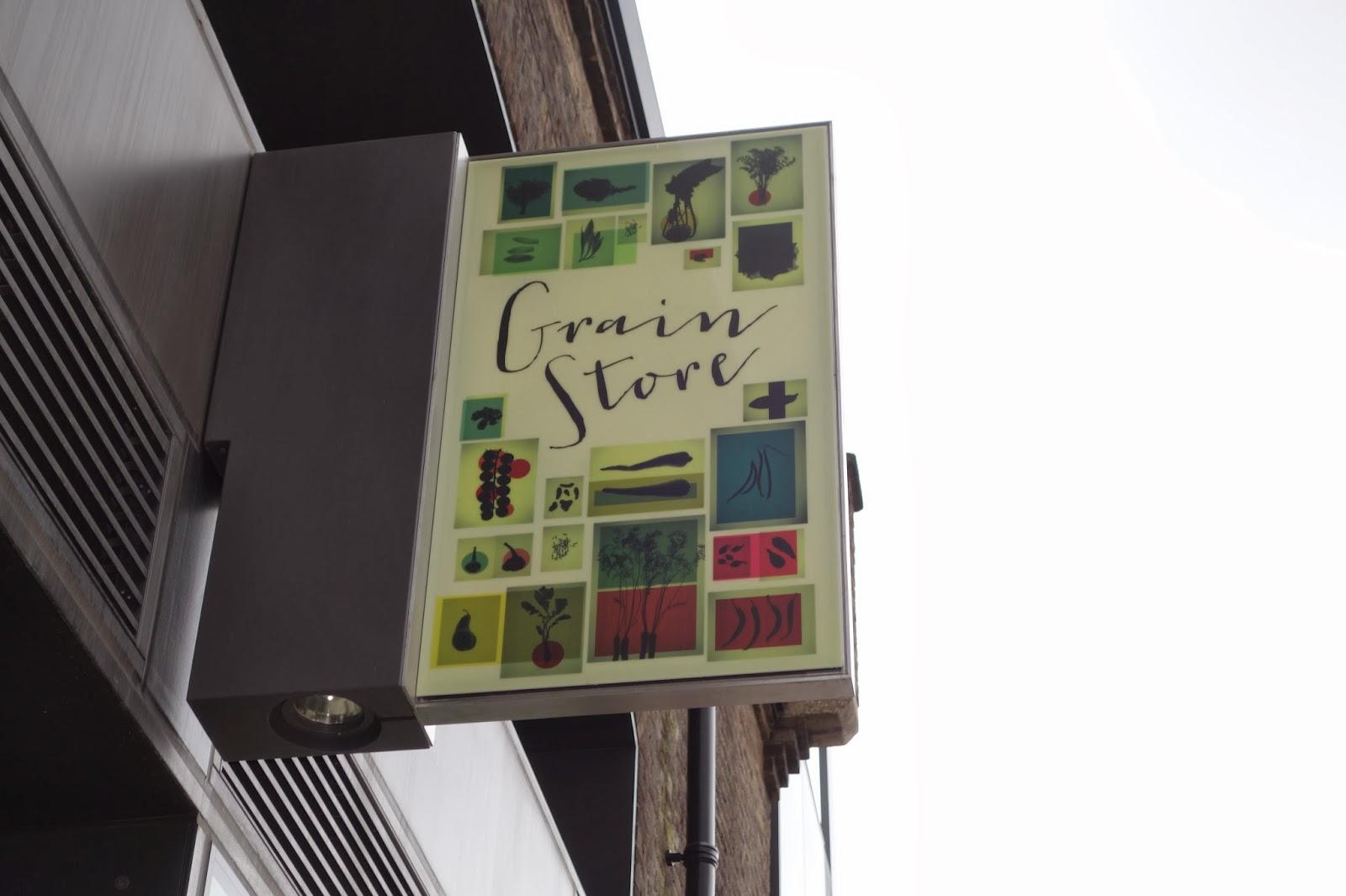 The sign for Grain Store restaurant
