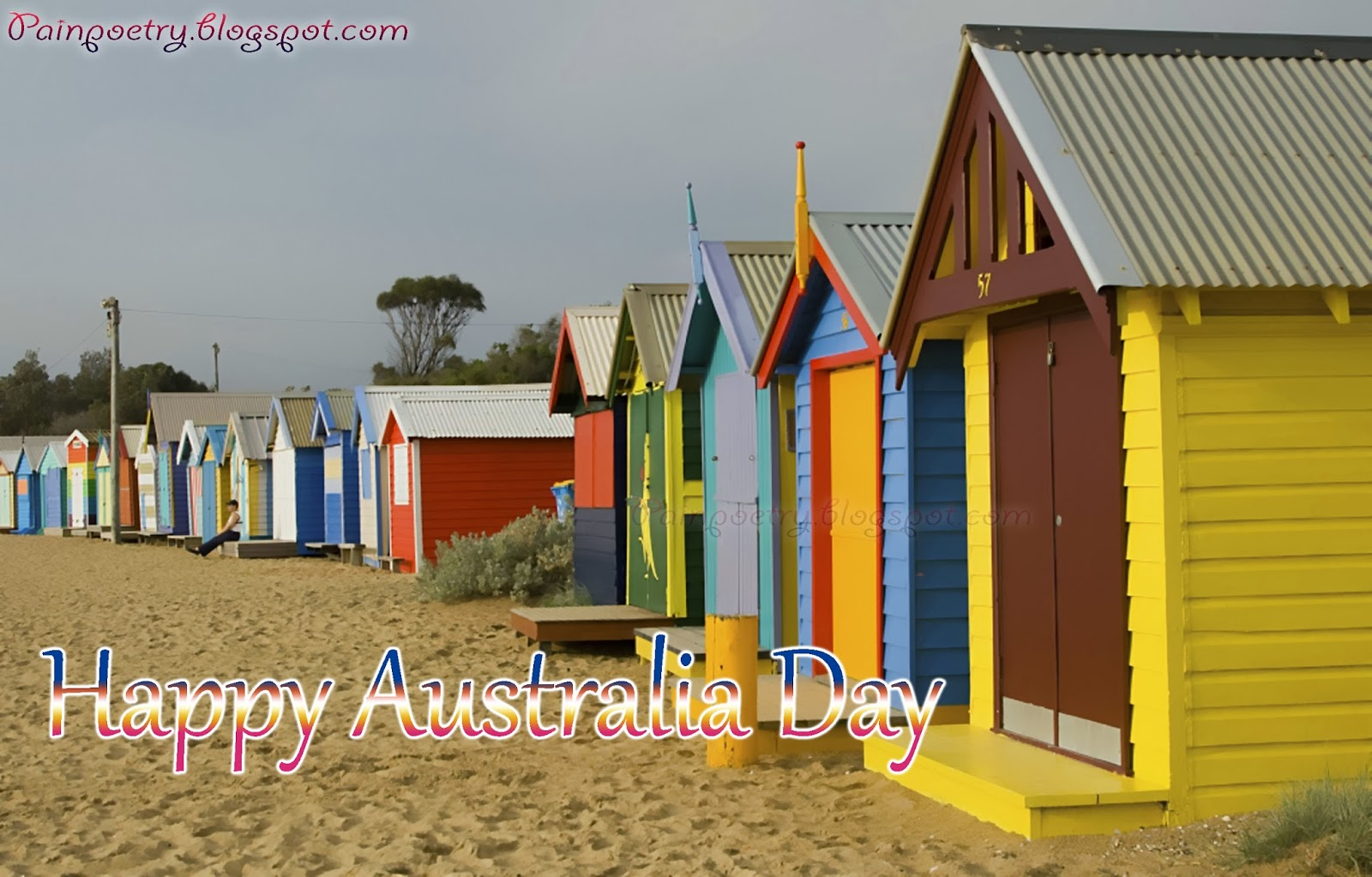 Happy-Australia-Day-Huts-On-Beach-Celebration-Of-26-January-Image-HD
