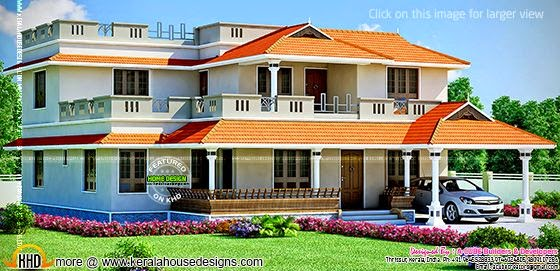 Large House Design Kerala Home Design And Floor Plans