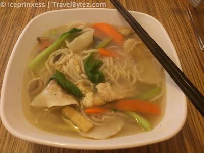 Vegetarian dumpling noodles