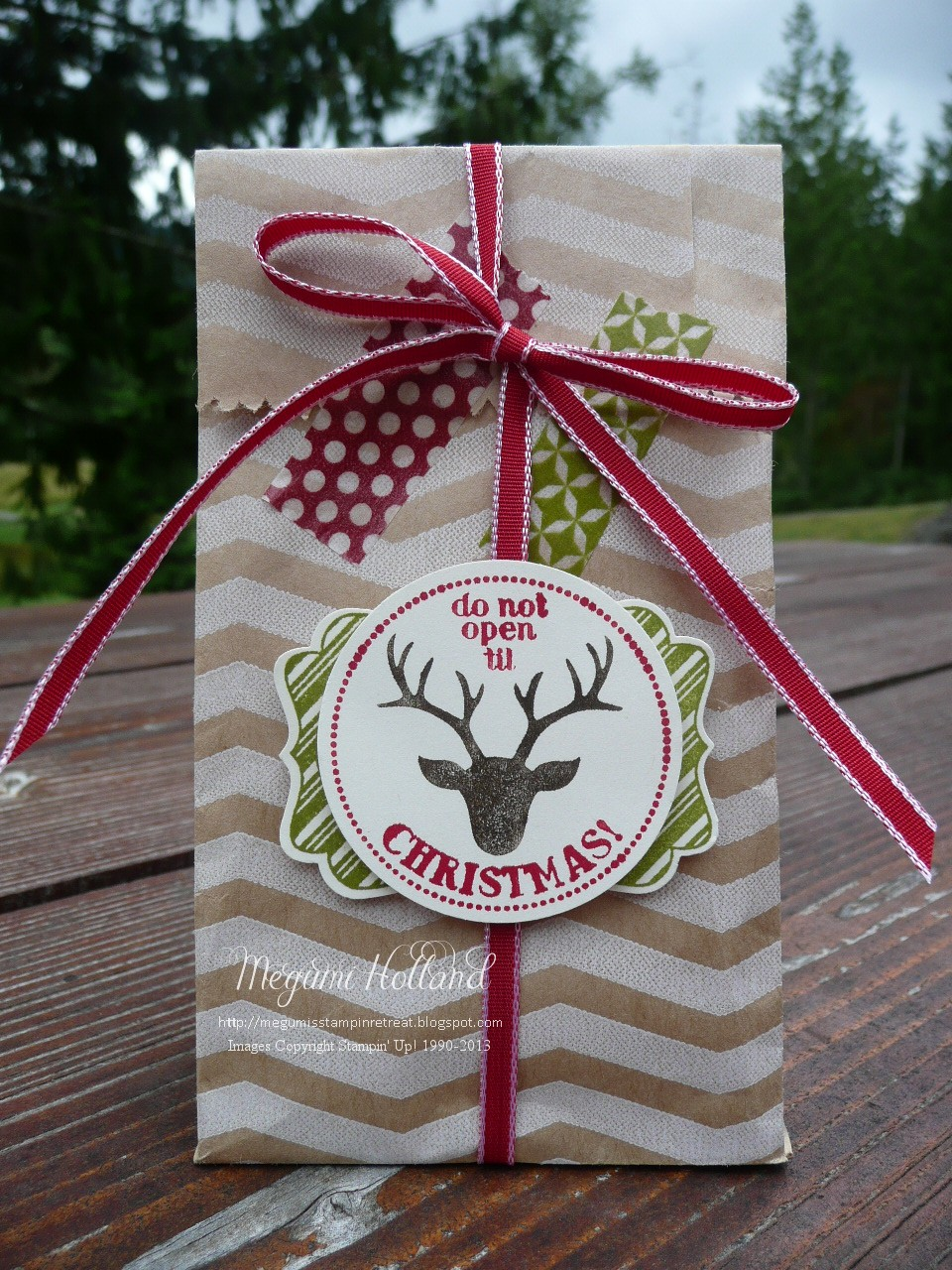 Megumi s stampin retreat very merry tags christmas