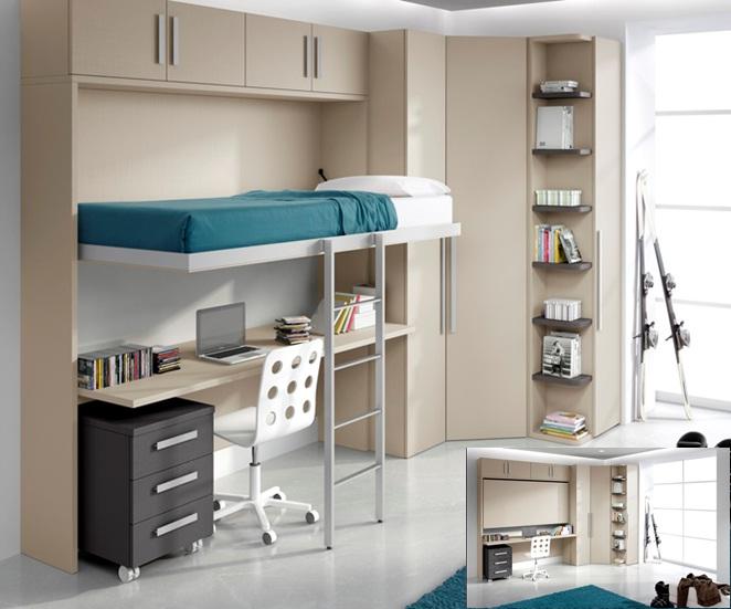 Dormitorios juveniles mueble juvenil para tu hogar - Dormitorios juveniles espacios pequenos ...