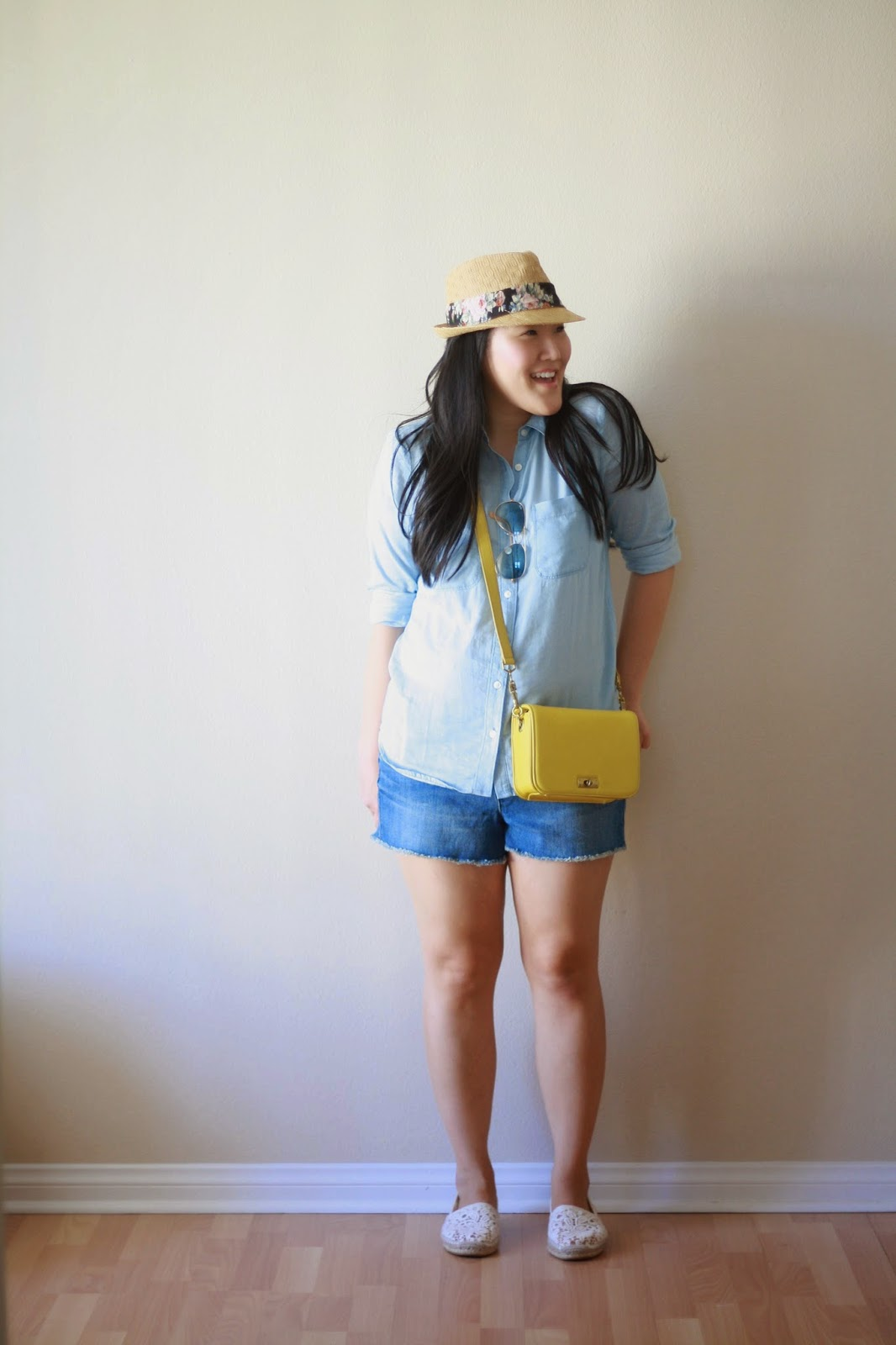 loft, jcrew, tory burch, abbe espadrilles, style blogger, fashion blogger, simplyxclassic, tripes, preppy, chic, chambray