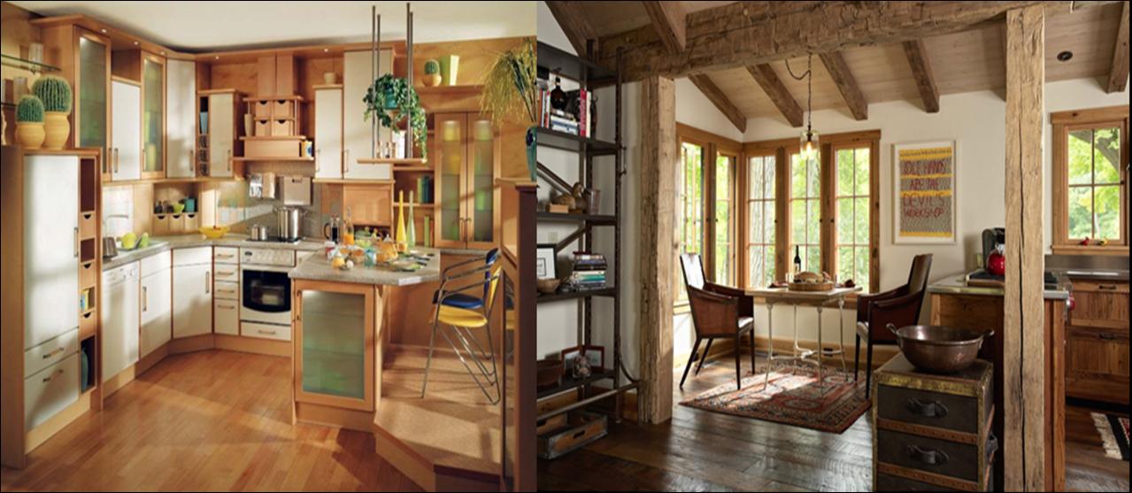 Pintura y madera estilo r stico en for Decoracion piso montana