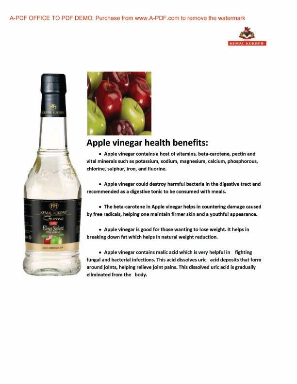 Benefit of Apple Vinegar