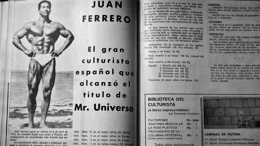 Juan Ferrero, el primer español Míster Universo, por @AgenciaFebus