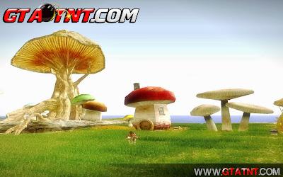 GTA SA - Skyrim Mushroom Land (Ilha do cogumelo)