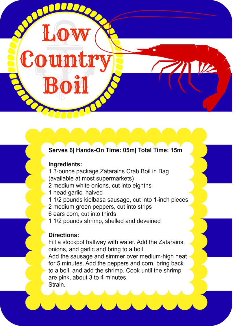 Meet With a Smile | Low Country Boil recipe