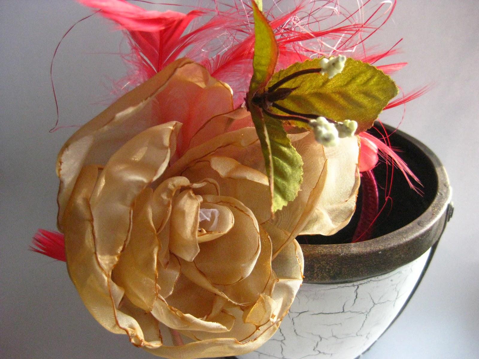 Цветы из органзы для ободка