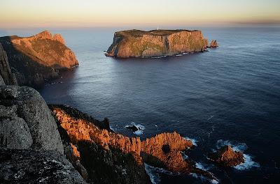 Tasman Island and The Blade, Cape Pillar, at sunset - 7th April 2011