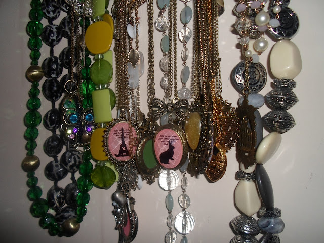 close up photo of my necklaces collection