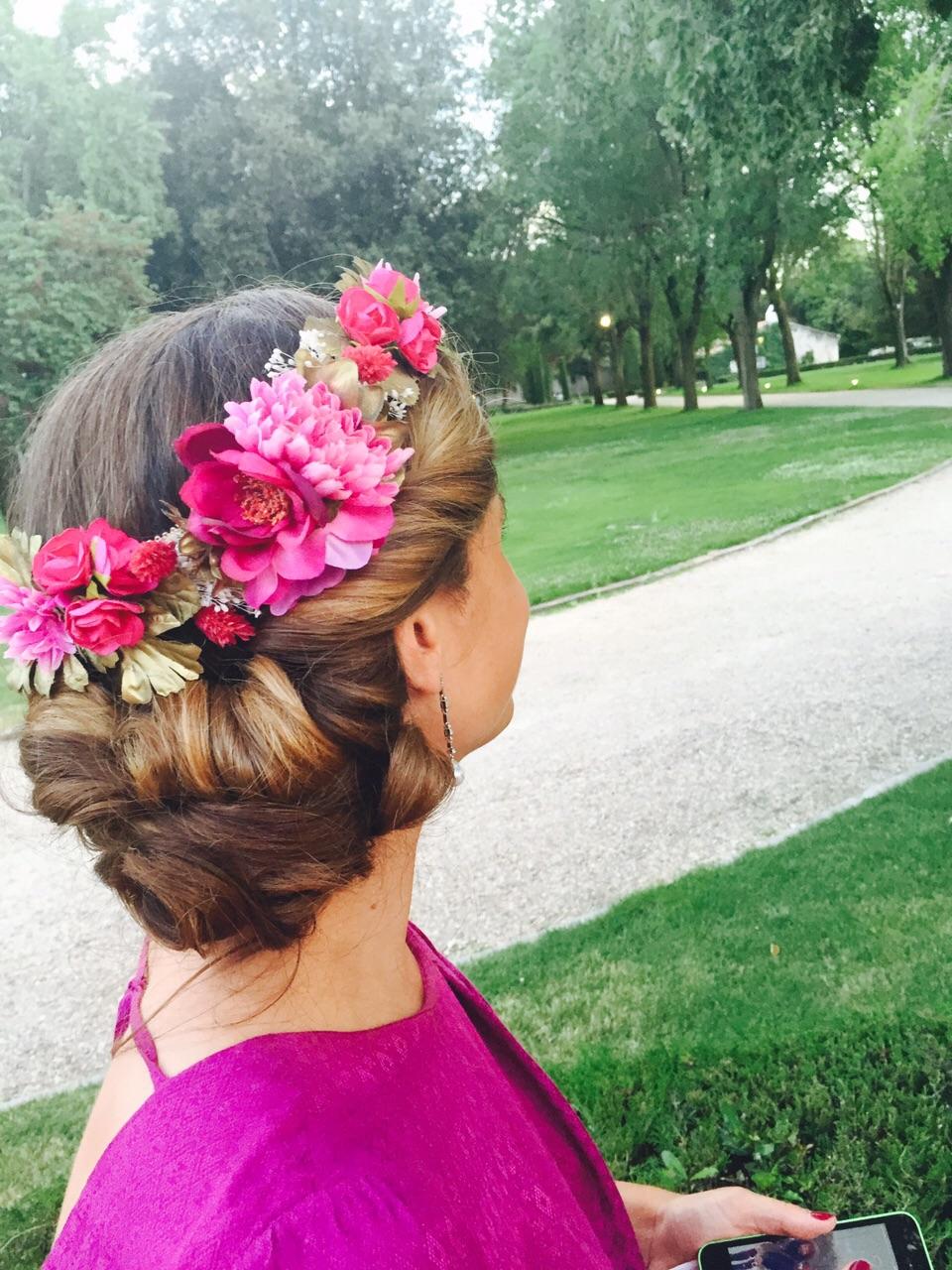 Mencia tocados m s coronas de flores - Coronas de flore ...